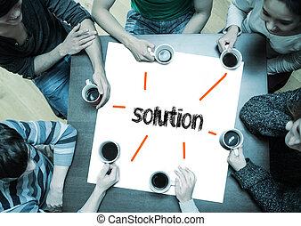 the, 詞, 解決, 上, 頁, 由于, 人們坐, 大約, 桌子, 喝咖啡