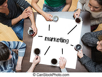 the, 詞, 銷售, 上, 頁, 由于, 人們坐, 大約, 桌子, 喝咖啡