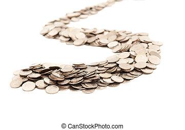 the, 路, 從, 硬幣