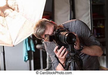 the, 過程, ......的, 相片, 射擊, 在, 工作室