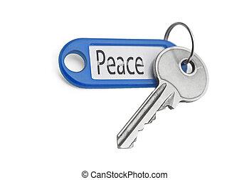 the, 鑰匙, 到, 和平