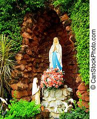 the, 雕像, ......的, 聖女瑪麗亞