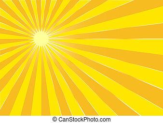 the, 黃色, 夏天, 太陽