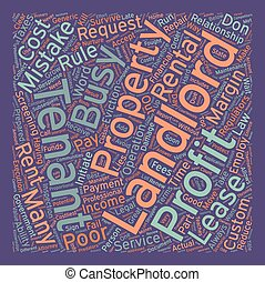 The 10 Costliest Landlord Mistakes text background wordcloud...