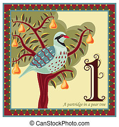 The 12 Days of Christmas - Religious card with The 12 Days...