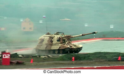 The 152 mm howitzer 2S19M2 Msta-S. Russia - The 2S19M2...