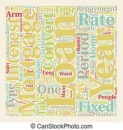 The 3 Types Of Mortgage Loans text background wordcloud concept