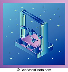 The 3D printer icon in which the parts of the weapon are printed