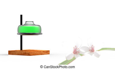 3d rendering essential oil from flower to the bottle. Essence liquid cosmetic