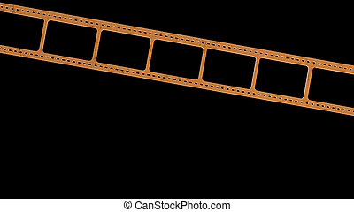 3d rendering of 35mm film strip scan with signs of usage with isolated background