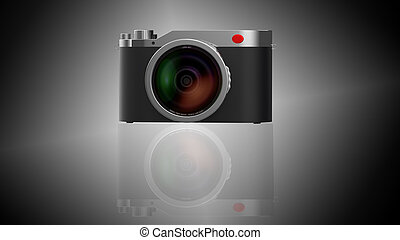 3d rendering of fashion camera isolated with nice background