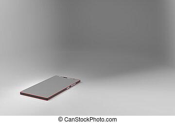 3d rendering of smart phone texture