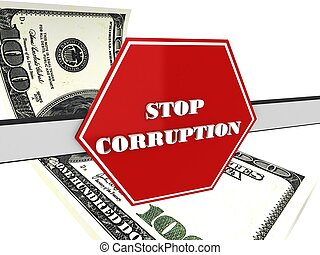 """The 3d sign of """"stop corruption"""""""