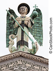 The 4 m-tall statue of St. Michael the Archangel