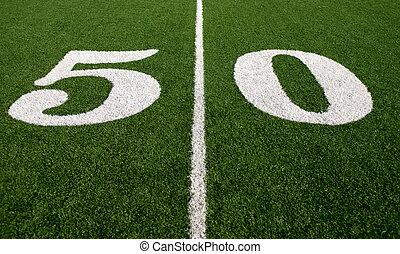 50-yard-line - The 50-yard-line of an american football...