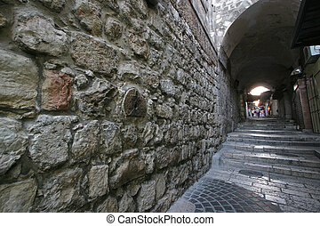 The 8th Station of Christ on the Via Dolorosa