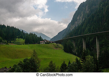 The A13 highway in Austria