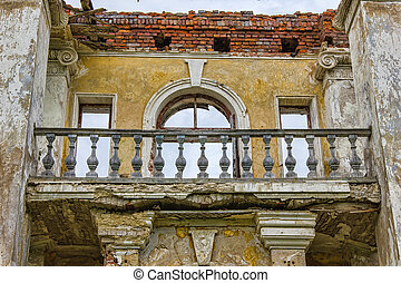 The abandoned mansion not far from Moscow