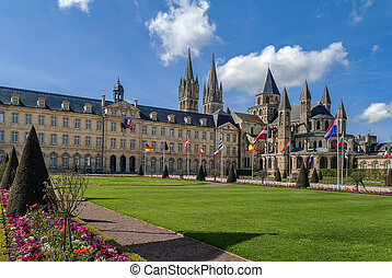 The Abbey of Saint-Etienne and town hall, Caen, France - The...