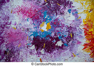 the Abstract acrylic hand painted background in the interior