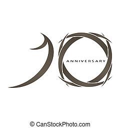10 years anniversary vector