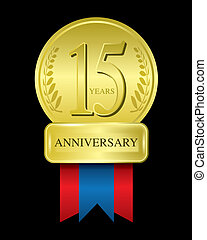 15 years anniversary gold medal