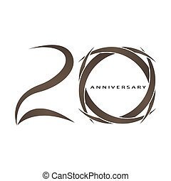 20 years anniversary vector
