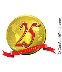 25 years anniversary - The abstract of 25 years anniversary