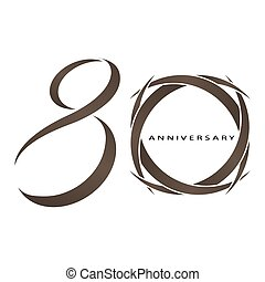 80 years anniversary vector