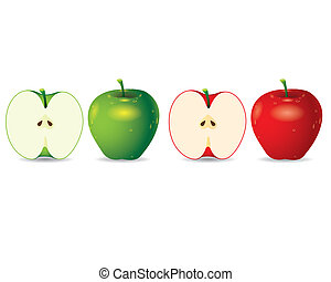 Apple vector - The Abstract of Apple vector