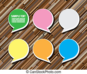 Background wood with Post it note - The abstract of...