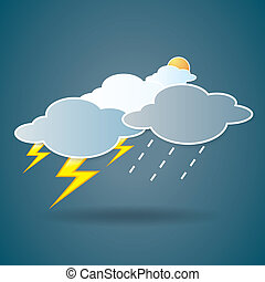collection of clouds, Weather icon for design. - The...