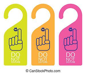 hanger sign - do not disturb - The abstract of Door knob or...