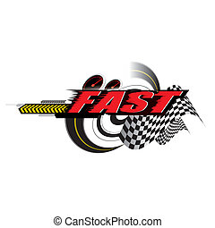 Fast speed Concept vector - The abstract of Fast speed...
