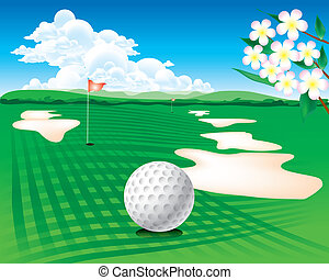 The Abstract of golf course