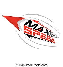 Max Speed concept vector