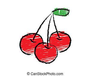 Sketch of cherry vector