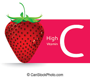Strawberry high vitamin C vector