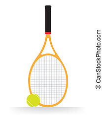 Tennis Racket and ball vector - The abstract of Tennis...