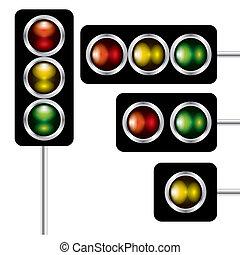 traffic lights signal vector