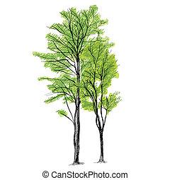 Tree Vector - Hand Drawn
