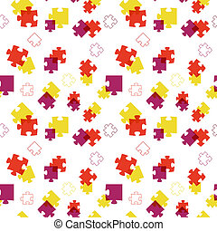 The abstract puzzle background