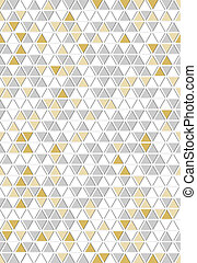 The abstract triangle background