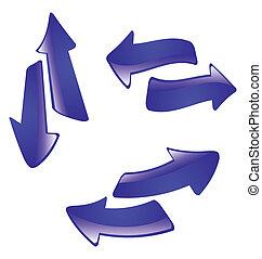 the abstract vector arrow