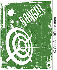 the abstract vector target on grunge background