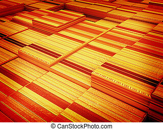 abstract wood urban background . 3D illustration. Vintage style.