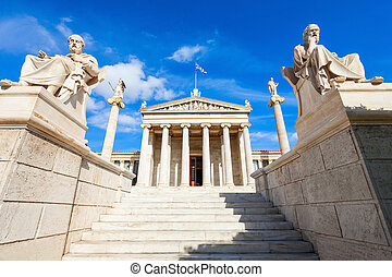 The Academy of Athens - The main building of the Academy of...