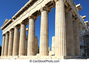 the Acropolis of Athens is an ancient citadel located on a high rocky outcrop above the city of Athens, Greece
