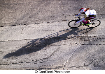 The action during a cycling race