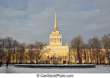 The Admiralty building at the Saint-Petersburg, Russia